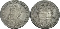5 Soldi 1736 Italien Sardinien Savoyen Carlo Emanuele III, 1730-1773 ss  120,00 EUR