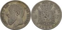 2 Francs 1867 Belgien Leopold II. f.ss  12,00 EUR