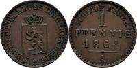 Pfennig 1864 Reuss-jüngere Linie zu Schleiz Heinrich LXVII., 1854-1867 ... 25,00 EUR  zzgl. 3,00 EUR Versand