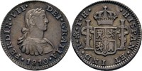 1/2 Real 1810 Spanien Mexico Ferdinand VII., 1808-1833 vz+  95,00 EUR  zzgl. 3,00 EUR Versand