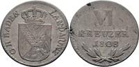 VI Kreuzer 1808 Baden Carl Friedrich, 1806-1811. kl. Schrötlingsfehler,... 200,00 EUR kostenloser Versand