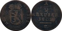 1/2 Kreuzer 1802 Hessen Kassel Wilhelm I. 1803-1821 f.ss  12,00 EUR  zzgl. 3,00 EUR Versand
