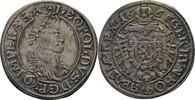 6 Kreuzer 1665 RDR Böhmen Prag Leopold I., 1657-1705 f.vz  240,00 EUR kostenloser Versand