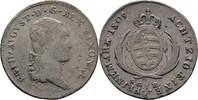 1/6 Taler 1809 Sachsen Dresden Friedrich August III./I., 1763-1827 ss/vz  75,00 EUR  zzgl. 3,00 EUR Versand