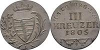 3 Kreuzer 1805 Sachsen Coburg Saalfeld Franz Friedrich Anton, 1800-1806... 125,00 EUR  zzgl. 3,00 EUR Versand
