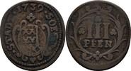 3 Pfennig 1739 Soest Stadt  ss  21,00 EUR  zzgl. 3,00 EUR Versand