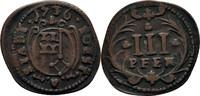 3 Pfennig 1736 Soest Stadt  ss  35,00 EUR  zzgl. 3,00 EUR Versand