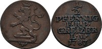 1/2 Pfennig 1787 Reuss ältere Linie Heinrich XI., 1778-1800 ss  35,00 EUR  zzgl. 3,00 EUR Versand