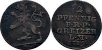 1/2 Pfennig 1789 Reuss ältere Linie Heinrich XI., 1778-1800 ss  35,00 EUR  zzgl. 3,00 EUR Versand