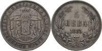 5 Lewa 1885 Bulgarien Alexander I., 1879-1886 ss  45,00 EUR  zzgl. 3,00 EUR Versand