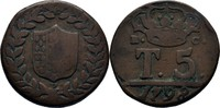 5 Tornesi 1798 Italien Neapel Ferdinand IV., 1759-1799 f.ss  25,00 EUR  zzgl. 3,00 EUR Versand