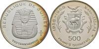 500 Francs 1970 Guinea Tutanchamun offen, Kontaktmarken, winzige Kratze... 50,00 EUR  zzgl. 3,00 EUR Versand