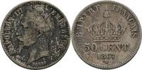 50 Centimes 1867 Frankreich Paris Napoleon III., 1852-1870. ss-  10,00 EUR  zzgl. 3,00 EUR Versand