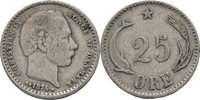 25 Öre 1874 Dänemark Christian IX. 1863-1906. ss-/ss  10,00 EUR  zzgl. 3,00 EUR Versand