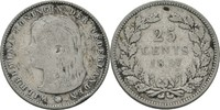 25 Cents 1897 Niederlande Wilhelmina I., 1890-1948 kl. Randschlag, fss  12,00 EUR  zzgl. 3,00 EUR Versand