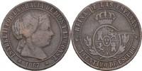 1 Centimo 1867 OM Spanien Isabel II., 1833-68 ss Druckstelle  7,00 EUR  zzgl. 3,00 EUR Versand