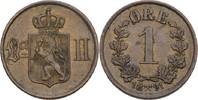 1 Öre 1891 Norwegen Oscar II., 1872-1907 vz  25,00 EUR  zzgl. 3,00 EUR Versand