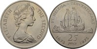 25 Pence 1973 St. Helena Elisabeth II. vz kl. Kratzer  7,00 EUR  zzgl. 3,00 EUR Versand