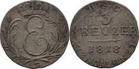 3 Kreuzer 1818 S Sachsen Coburg Saalfeld Ernst I., 1806-26 ss-  25,00 EUR  zzgl. 3,00 EUR Versand