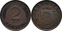 2 Santimi 1939 Lettland  vz  7,00 EUR  zzgl. 3,00 EUR Versand