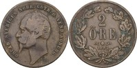 2 Öre 1857 L.A. Schweden Oscar I., 1844-59 fast ss  7,00 EUR  zzgl. 3,00 EUR Versand