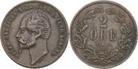 2 Öre 1857 L.A. Schweden Oscar I., 1844-59 ss  10,00 EUR  zzgl. 3,00 EUR Versand