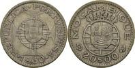 20 Escudos 1960 Port. Mosambik  ss  15,00 EUR  zzgl. 3,00 EUR Versand