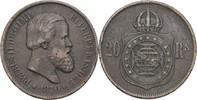 20 Reis 1870 Brasilien Petrus II., 1831-89 ss  9,00 EUR  zzgl. 3,00 EUR Versand