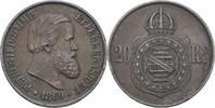 20 Reis 1869 Brasilien Petrus II., 1831-89 ss  10,00 EUR  zzgl. 3,00 EUR Versand