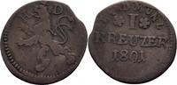 Kreuzer 1801 Hessen Darmstadt Ludwig X, 1790-1806 ss  12,00 EUR  zzgl. 3,00 EUR Versand