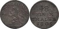 1/48 Taler 1805 Reuss Lobenstein Heinrich XXXV., 1782-1805. ss-  150,00 EUR  zzgl. 3,00 EUR Versand