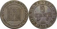 5 Cent 1812 Königreich Westfalen Hieronymus Napoleon, 1807-1813 ss  20,00 EUR  zzgl. 3,00 EUR Versand