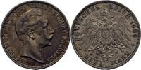 3 Mark 1909 Preussen Wilhelm II., 1888-1918. kl. Randschlag, ss  20,00 EUR  zzgl. 3,00 EUR Versand