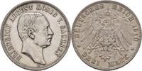 3 Mark 1910 Sachsen Friedrich August III., 1904-1918 ss  30,00 EUR  zzgl. 3,00 EUR Versand