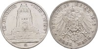 3 Mark 1913 Sachsen Völkerschlacht Leipzig Friedrich August III., 1904-... 30,00 EUR  zzgl. 3,00 EUR Versand