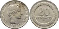 20 Centavos 1947 B Kolumbien  fast Stempelglanz  20,00 EUR  zzgl. 3,00 EUR Versand