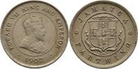 1 Farthing 1902 Jamaika Edward VII., 1901-10 fvz/vz, Randunebenheiten  20,00 EUR  zzgl. 3,00 EUR Versand