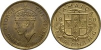 1 Farthing 1950 Jamaika George VI., 1936-52 prägefrisch  7,00 EUR  zzgl. 3,00 EUR Versand