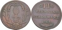 2 Pfennig 1763 Augsburg  ss  14,00 EUR  zzgl. 3,00 EUR Versand