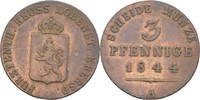 3 Pfennige 1844 Reuss jüngere Linie Heinrich LXII. 1818-1854 ss  25,00 EUR  zzgl. 3,00 EUR Versand