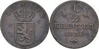 1/2 Kreuzer 1834 Hessen Kassel Wilhelm II., 1821-1847 ss  20,00 EUR  zzgl. 3,00 EUR Versand