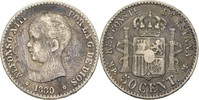 50 Centimos 1889 MPM Spanien Alfonso XIII., 1886-1931 fast ss  15,00 EUR  zzgl. 3,00 EUR Versand