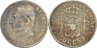 50 Centimos 1881 MSM Spanien Alfonso XII., 1874-85 fast ss  8,00 EUR  zzgl. 3,00 EUR Versand
