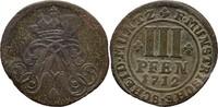3 Pfennige 1712 Münster Domkapitel Franz Arnold von Wolff Metternich zu... 30,00 EUR  zzgl. 3,00 EUR Versand