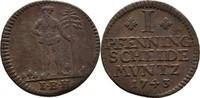 Pfennig 1743 Braunschweig Wolfenbüttel Carl I., 1735-1780 ss  20,00 EUR  zzgl. 3,00 EUR Versand