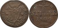 1/2 Stüber 1804 Berg Maximilian IV. Joseph 1799-1806 ss  12,00 EUR  zzgl. 3,00 EUR Versand