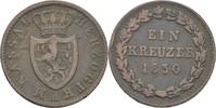 Kreuzer 1830 Nassau Wilhelm, 1816-1839 ss  15,00 EUR  zzgl. 3,00 EUR Versand