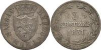 3 Kreuzer 1831 Nassau Wilhelm, 1816-39 ss-  10,00 EUR  zzgl. 3,00 EUR Versand