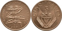 5 Francs 1977 Ruanda Essay - Probe Kaffeestrauch Stempelglanz  40,00 EUR  plus 3,00 EUR verzending