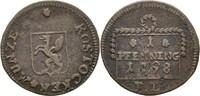 Pfennig 1798 Stadt Rostock  ss  30,00 EUR  zzgl. 3,00 EUR Versand